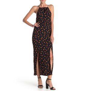 Velvet Torch Floral Halter Neck Maxi Dress